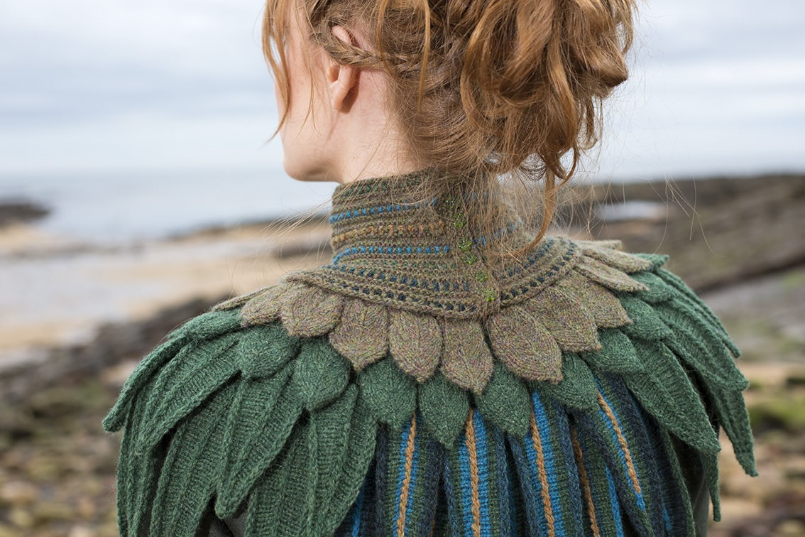 Lapwing Collar Project Class Kit design by Alice Starmore for VIrtual Yarns
