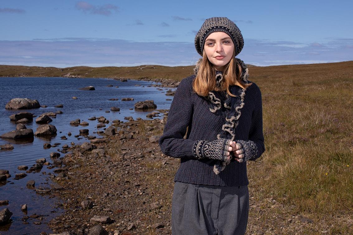 Staran video class design by Alice Starmore in Hebridean 3 Ply