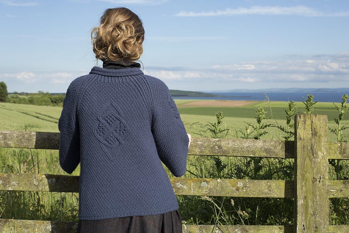 Cairngorm Broach patterncard kit design by Alice Starmore in Bainin yarn